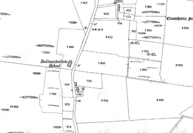 Ballymachola National School, Ballymachola townland, 2nd Edition OS Sheet