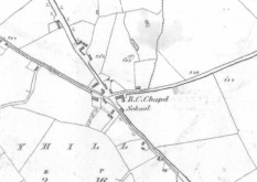 """First Edition 6"""" Ordnance Survey Sheet For Tullystwon Cross, Co. Westmeath"""