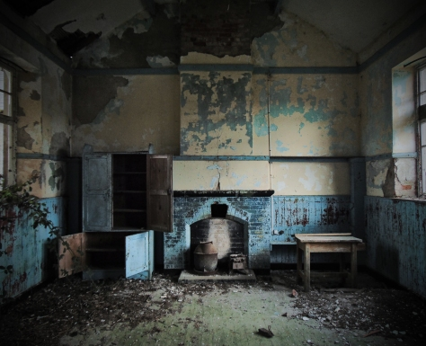 Carrigan Co. Cavan 1897 Interior School Room Blue
