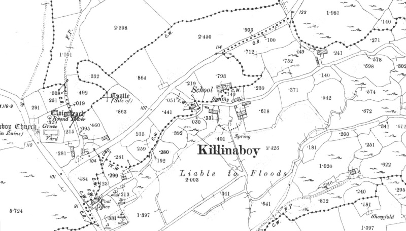 Kilnaboy Co. Clare 2nd Edition Os Sheet