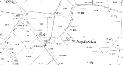 Leitir National School as shown on the First Edition Ordnance Survey 25 Inch Map