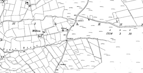 Old Milleen National School - 1914 (Cassini Map Extract c.1940)