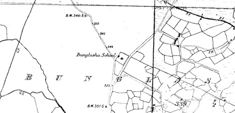 Bunglash National School 1873 (Cassini Map)