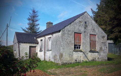 Treen National School by the shores of Lough Mask in Co. Mayo - Built in 1884 and now lying empty