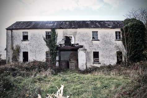 The rear of Tryhill National School near Islandcase in Co. Galway