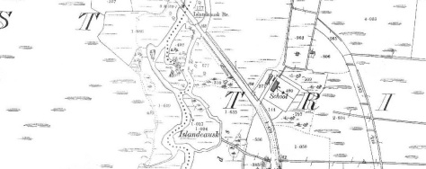 Tryhill National School as shown on the First Edition 25 Inch Ordnance Survey Sheet