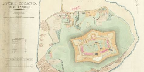 Image Credit: Spike Island, Cork Harbour. School of Military Engineering, Chatham 1879 with later additions until 1899 (Public Records Office, Kew)